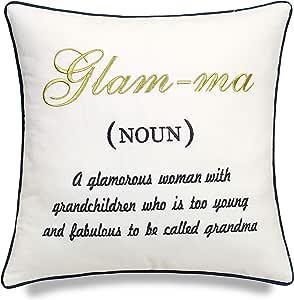 DecorHouzz Glamma Embroidered Pillow