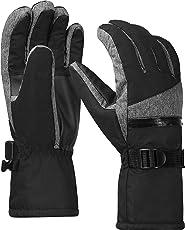 Terra Hiker 3M Thinsulate Skihandschuhe, Herren Wasserdichte Handschuhe, Männer Handschuhe, Warme Fahrradhandschuhe für Winter Sport wie Skifahren, Snowboardfahren, Radfahren,Eislaufen, Wandern