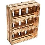 Kistenkolli Altes Land Caisses à fruits plates Wilma avec deux étagères/entre les planches environ 50 x 40 x 16 cm/étagère à