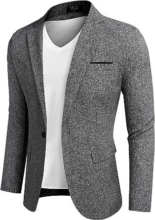 COOFANDY Men's Casual Blazer Sports Coats Lightweight Suit Jackets One Button