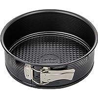 Zenker Springform Ø 20 cm, Backform mit Antihaftbeschichtung, runde Kuchenform mit Flachboden (Farbe: schwarz), Menge: 1…