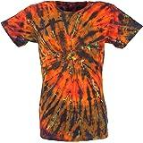 GURU-SHOP, Batik T-Shirt, Camicia Uomo Manica Corta Tie Dye Shirt, Cotone, Magliette Batik
