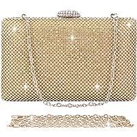BAIGIO Abendtasche Damen Strass Clutch Tasche Diamant Glitzernd Umhängetasche für Hochzeit Party (Gold)