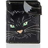 Shagwear Junge Damen Geldbörse Small Purse und Designs Cats Face Green Eyes Katzengesicht mit grünen Augen