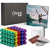 Billes Magnétiques Anti-Stress myHodo, 100 Magnet Balls, Billes Aimantées 5mm, Gadget insolite et Idéal Cadeau, Aimants Puiss