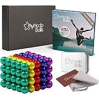 Billes Magnétiques Anti-Stress myHodo, 100 Magnet Balls, Billes Aimantées 5mm, Gadget insolite et Idéal Cadeau, Aimants…