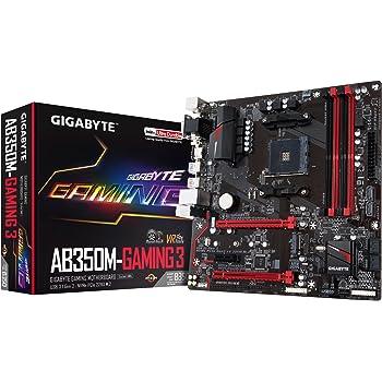 GIGABYTE GA-AB350M-Gaming 3 AM4 AMD B350 SMART FAN 5 HDMI M.2 SATA USB 3.1 Type-A Micro ATX DDR4 Motherboard