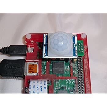 PIR-2-Pi Motion Sensor for Raspberry Pi Zero WH, Pi 3, Pi 2, B+, A+, A and B models - PIR Infra Red Movement Sensor & GPIO clip for Raspberry Pi. Connects directly to GPIO pins. PIR module sends signals on GPIO4.