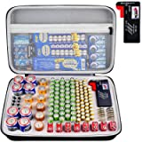 Battery Organiser Storage Box with Battery Tester (BT168), Case Bag Holder fits for 140 Batteries AA AAA AAAA 9V C D…