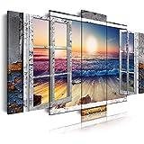 DekoArte 495 - Cuadros Modernos Impresión de Imagen Artística Digitalizada | Lienzo Decorativo Para Salón o Dormitorio | Esti