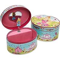 """Lucy Locket """"Prinzessinnen"""" Ovales Schmuckkästchen mit Spieluhr – Glitzerndes Kinder Schmuckkästchen – Spieluhr mit…"""