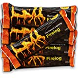 Fire Wood Logs – Natural & Smokeless Firelogs for Outdoor Wood Burners & Firepits NOT Suitable for Barbecues or Food…