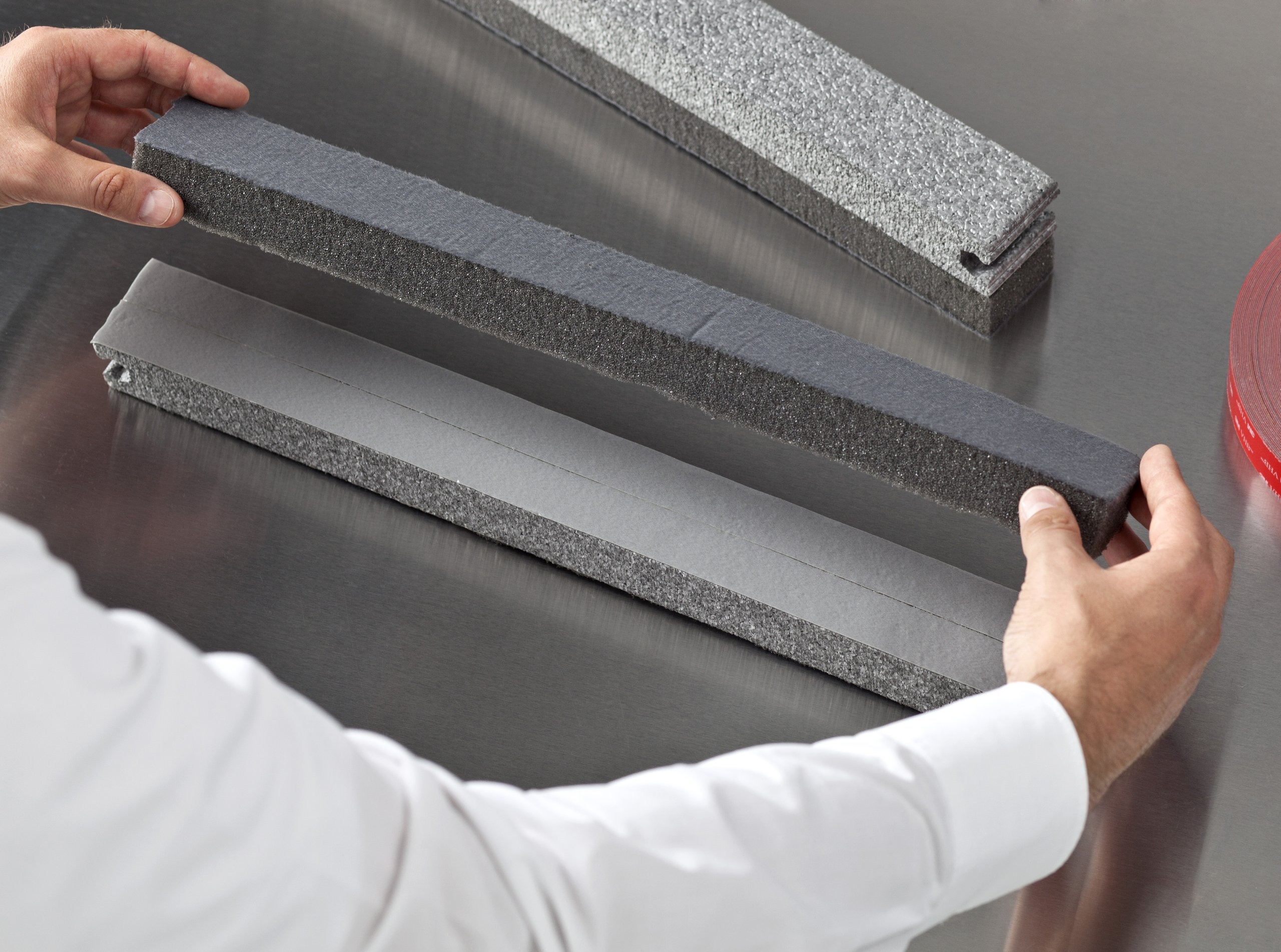 3M VHB 7000072418 Cinta Adhesiva para Materiales Diferentes Combinados, 19 mm X 3 m, 1.1 mm, 1unidad, Gris