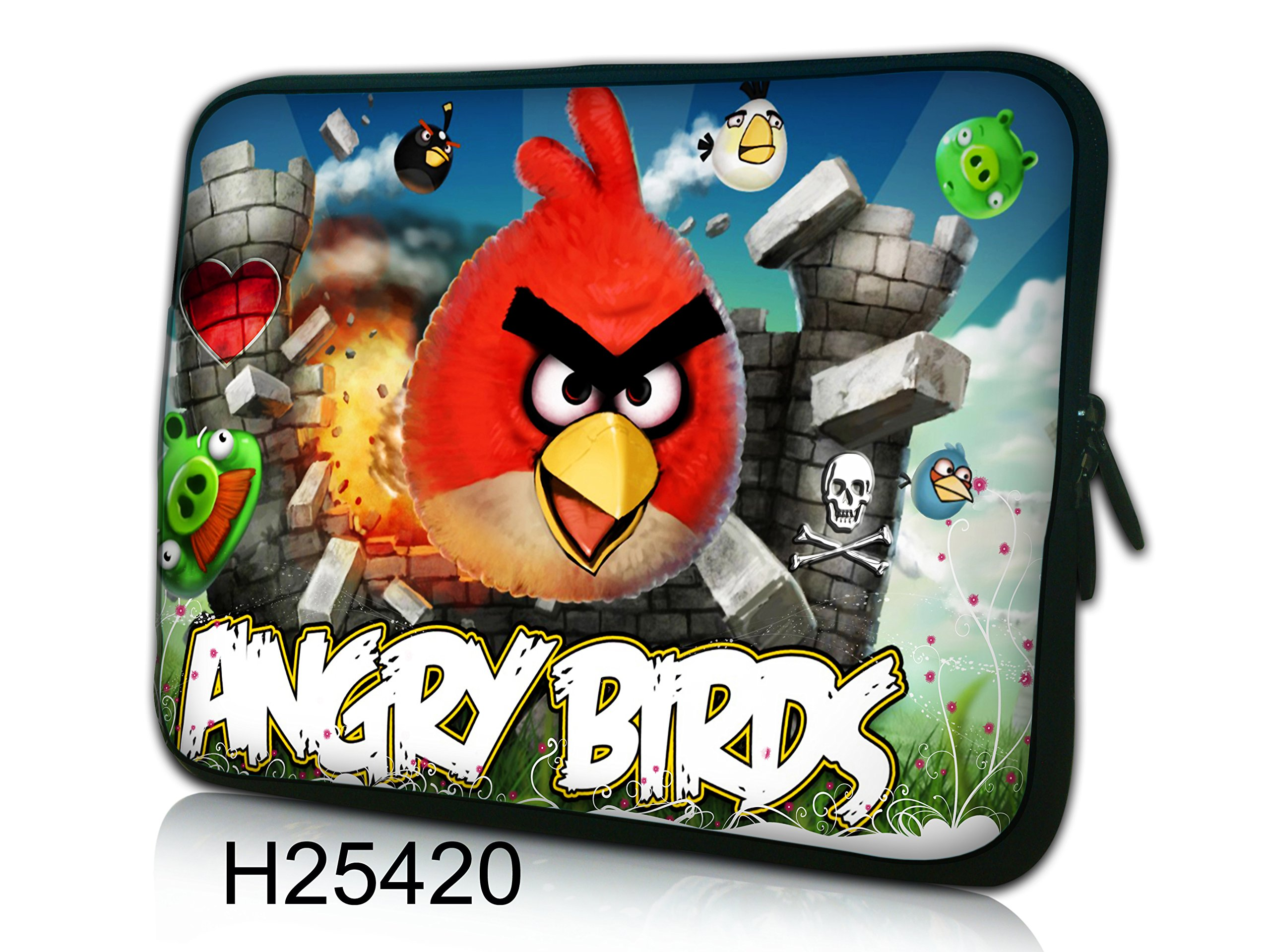 "Funda blanda de neopreno para portátiles y tablets 17""- 17,6"". *Angry Bird Red*"