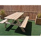 Amazon.de: Holzbank Tisch Sitzgarnitur clevere Sache die