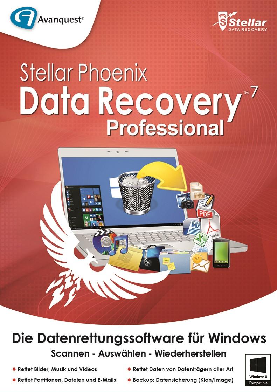 Stellar Phoenix Data Recovery 7 Professional - Professionelle Datenrettung in 3 einfachen Schritten: Scannen, Auswählen, Wiederherstellen! Windows 10|8.1|8|7|Vista (32-/64bit) [Download]