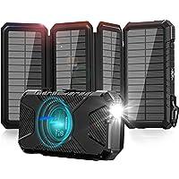 GOODaaa Solar Powerbank 26800mAh, Wireless Solar Powerbank mit 3 Ausgängen, Outdoor Powerbank für Smartphones, Tablets…