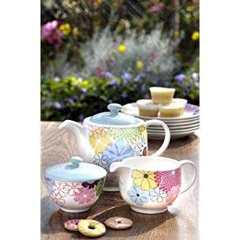 Portmeirion Crazy Daisy Tea Set, Multi-Colour, 3-Piece: Amazon.co.uk ...