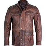 Charlie LONDON Mens Soft Black Leather Biker Long Jacket - Three Quarter Brontes Jacket