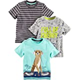Simple Joys by Carter's Paquete de 3 Playeras de Manga Corta con Gráficos. Infant-and-Toddler-t-Shirts Bebé-Niños (Pack de 3)