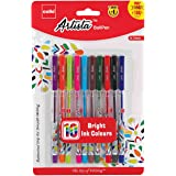 Cello Artista Coloured Ink Ball Pens - Set of 10 (Assorted)