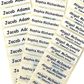 105 PRE-CUT IRON-ON SCHOOL NAME TAPES LABELS TAGS SCHOOLWEAR UNIFORM