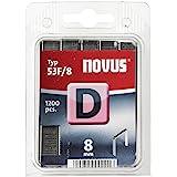 Novus Platte draadklemmen 8 mm, 1200 nieters type 53 F/8, voor het bevestigen van folies, etiketten, papier, karton