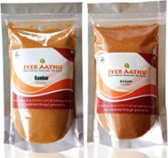 IYER AATHU Sambar and Rasam Powder, 100g - Pack of 2