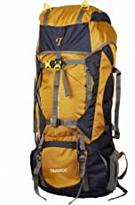 NOVICZ 60L Travel Backpack for Outdoor Sport Camp Hiking Trekking (Yellow, HK006)