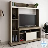 Home Edge Vantre Engineered Wood TV Entertainment Unit Multipurpose Display Storage Cabinet for Living Room Home  Brown