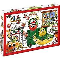 Freche Freunde FREUNDE Bio Adventskalender, Weihnachtskalender gefüllt mit Bio Kinder-Snacks und Spaß, ohne…