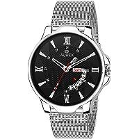 AUREX Smartwatch Men's Watch (Black Dial Silver Colored Strap)