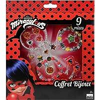 Taldec- Coffret Bijoux 9 pièces Miraculous pcs, T19804, Rouge