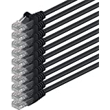 1aTTack Câble réseau UTP avec connecteurs RJ45Cat.6, 10 unités noir Noir - 10 unités 2,0 Meter