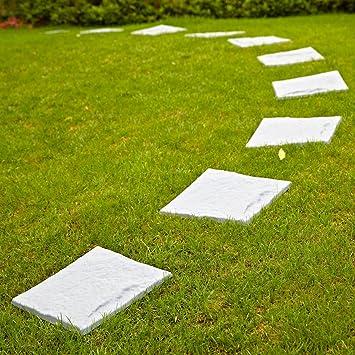 Parkland® Plastic Patio Paving Slabs Stepping Stones Imitation Garden Tile  Stone Effect Feature Path Lawn (1 Set Of 4): Amazon.co.uk: Garden U0026 Outdoors