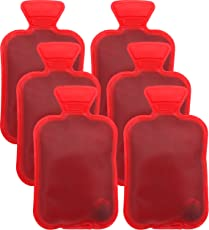 Handwärmer Taschenwärmer wiederverwendbar Fingerwärmer zum Knicken - Heizpad Firebag für Warme Hände und Finger im Winter auch als Geschenk für Kinder und Erwachsene Rot 6 Stück