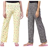 Fflirtygo Cotton Printed Track Pant/Payjama/Lounge Wear –Soft Cotton Night Wear/Pyjama for Women Combo Pack, Prints May…