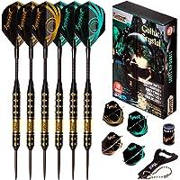 IgnatGames Profi Dartpfeile mit Metallspitze - Professionelle Darts mit stilvoller Box und Darts-Anleitung, Darts Steel…