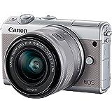 Canon EOS M100 - Cámara Evil compacta de 24.2 MP (LCD, FHD, Bluetooth, WiFi/NFC, Dual Pixel AF, DIGIC 7) Gris - Kit Cuerpo co