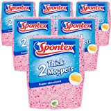 Spontex tjocka moppar, 6 paket med 2 (Totalt 12 svampar)