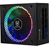 Nfortec Sagitta Fuente de alimentación 80 Plus Gold 650W Full Modular con Retroiluminación RGB en Diferentes Efectos y Colore