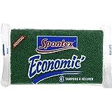 Spontex  Tissus Grattant  3 Tampons Economic  Lot de 4