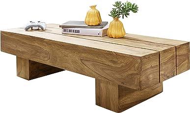 Genial Wohnling Couchtisch Massiv Holz Akazie 120 Cm Breit Wohnzimmer Tisch Design  Dunkel Braun