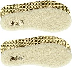 RBJ leather shoes . Schuheinlegesohlen aus Schafwolle – 2 Paar Pack. 100% natürlicher Schafwolle.