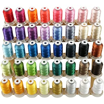 10 vibrant broderie bobines machine à coudre silk threads frère janome-guterman