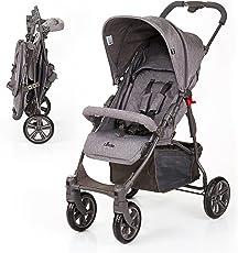 ABC Design Buggy Treviso 4 - Rückenlehne 5-fach bis Liegeposition verstellbar, Kinderwagen/Sportwagen ab 6 Monaten, abnehmbares Verdeck mit UV-Schutz - Grau