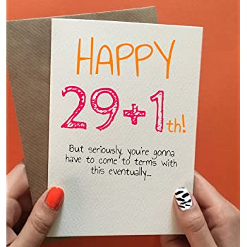 30th Birthday Card Funny Gift Friend