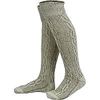 Mens Bavarian Oktoberfest/Causal Lederhosen Socks Pairs White & Brown Mix