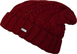 Noise NOICAPWNTR041 Polyester Fleeced Twist Knitted Beanie, Adult (Red)