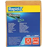RAPID – Agrafes grillage VR22 plastifiées – Compatibles avec les Pinces à Grillage FP222 et FP20 – Couleur: Vert – Diamètre
